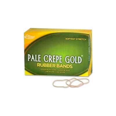 "Alliance® Pale Crepe Gold® Rubber Bands, Size # 19, 3-1/2""x 1/16"", Natural, 1 lb. Box"