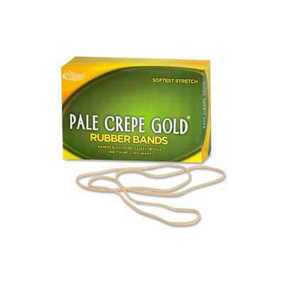 "Alliance® Pale Crepe Gold® Rubber Bands, Size # 117B, 7"" x 1/8"", Natural, 1 lb. Box"