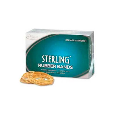 """Alliance® Sterling® Rubber Bands, Size # 19, 3-1/2"""" x 1/16"""", Natural, 1 lb. Box"""