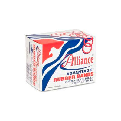 """Alliance® Advantage® Rubber Bands, Size # 18, 3"""" x 1/16"""", Natural, 1/4 lb. Box"""