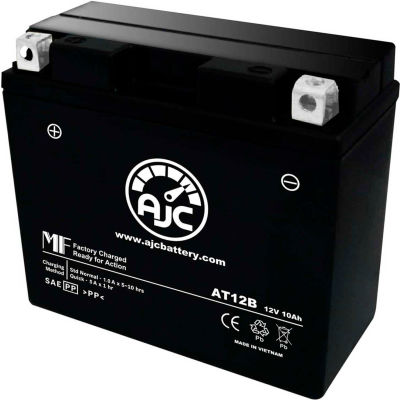 AJC Battery Ducati Street Fighter S 1100CC Motorcycle Battery (2009-2012), 10 Amps, 12V, E Terminals