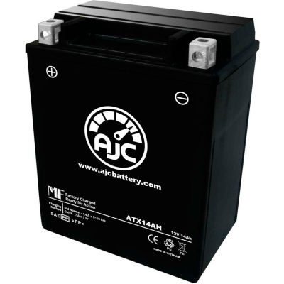 AJC Battery Honda CX650C Custom 650CC Motorcycle Battery (1983), 14 Amps, 12V, B Terminals