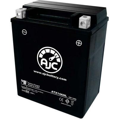 AJC Battery Suzuki GS1100S Katana 1100CC Motorcycle Battery (1981-2001), 14 Amps, 12V, B Terminals
