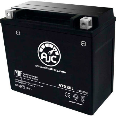 AJC Battery Yamaha XVS13AY Striker 1300CC Motorcycle Battery (2009-2015), 18 Amps, 12V, B Terminals