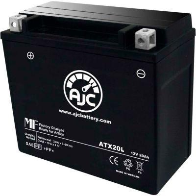 AJC Battery Polaris Hammer 1634CC Motorcycle Battery (2006-2009), 18 Amps, 12V, B Terminals