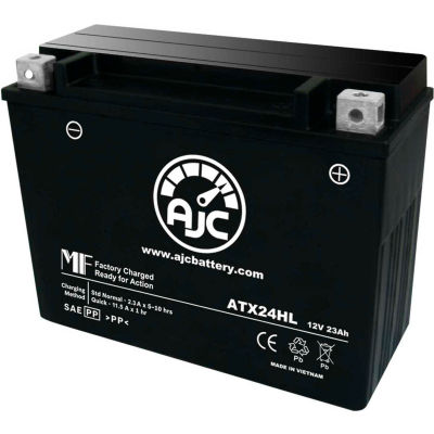AJC Battery Ducati Sport 500CC Motorcycle Battery, 23 Amps, 12V, I Terminals