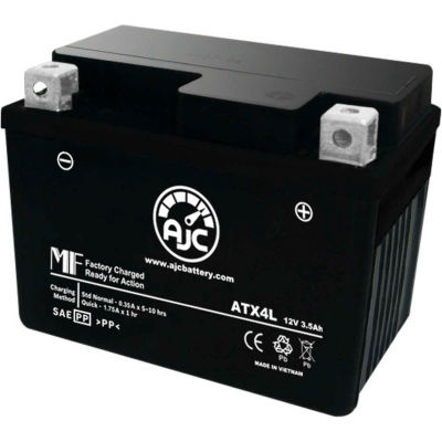 AJC Battery Beta Tempo 50CC Motorcycle Battery (1997-2001), 3.5 Amps, 12V, B Terminals