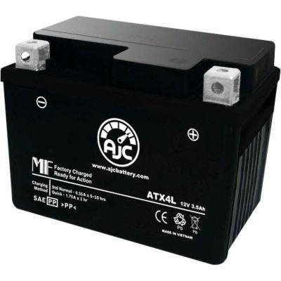 AJC Battery Kawasaki GTO 125CC Motorcycle Battery (2000-2004), 3.5 Amps, 12V, B Terminals