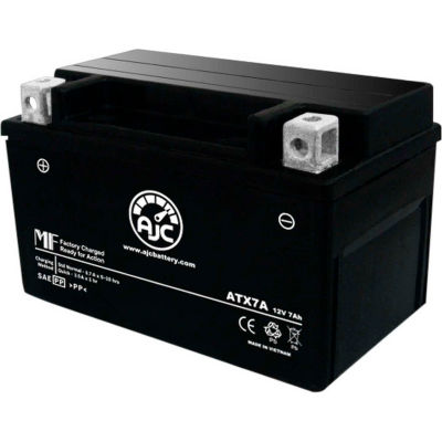 AJC Battery Augusta F4 1000CC Motorcycle Battery (2006), 7 Amps, 12V, B Terminals
