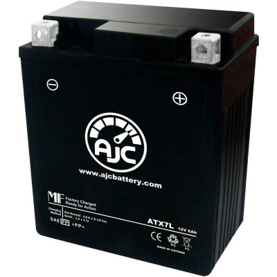 AJC Battery Kymco Jockey125 Motorcycle Battery (1999), 6 Amps, 12V, B Terminals