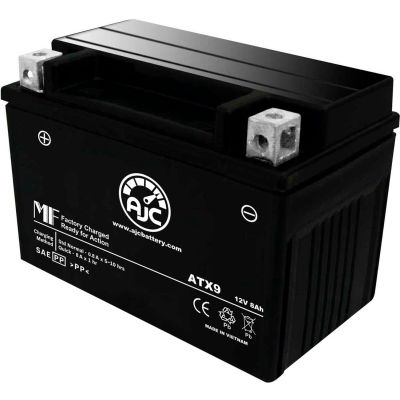 AJC Battery Kawasaki ZX600-G J Ninja ZX6-R 600CC Motorcycle Battery (1998-2008), 8 Amps, 12V