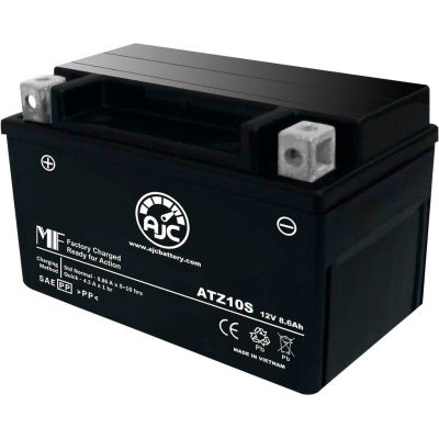 AJC Battery Honda STZ10S 954CC Motorcycle Battery (2002-2003), 8.6 Amps, 12V, B Terminals