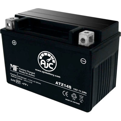 AJC Battery Yamaha STZ14S 1700CC Motorcycle Battery (2009), 11.2 Amps, 12V, B Terminals