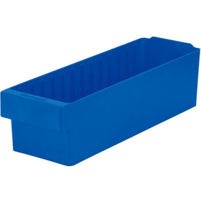 "Akro-Mils Dividable Akrodrawer 31168 - 5-9/16""W x 17-5/8""D x 4-5/8""H, Blue - Pkg Qty 6"