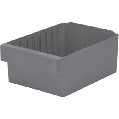 "Akro-Mils Dividable Akrodrawer 31182 - 8-3/8""W x 11-5/8""D x 4-5/8""H, Gray - Pkg Qty 4"