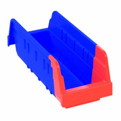 "Akro-Mils Indicator® 36442BLUE Two Tone Double Hopper Shelf Bin 4-1/4""W x 11-5/8""D x 4""H - Pkg Qty 24"