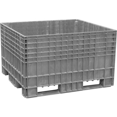 Buckhorn BF4844290051000 - 48x44x29 Agricultural Bulk Container-FDA Approved Light Gray