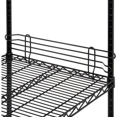 """Nexel® Black Epoxy Wire Ledge 18""""L x 4""""H"""