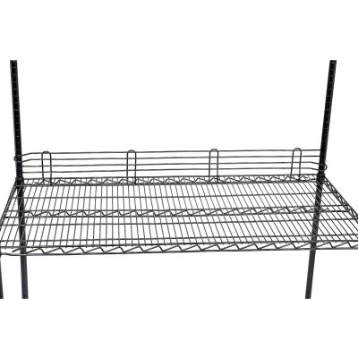 "Nexel® Black Epoxy Wire Ledge 72""L x 4""H"