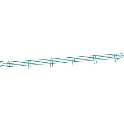 """Nexel® Poly-Green® Wire Ledge 72""""W x 4""""H"""