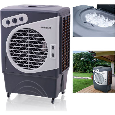 Honeywell Indoor/Outdoor Portable Evaporative Air Cooler CO60PM, 125 Pint