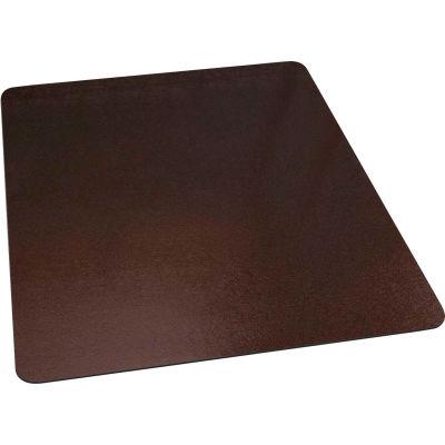"""ES Robbins® Office Chair Mat for Carpet - 46"""" x 60"""" - Bronze - Straight Edge"""