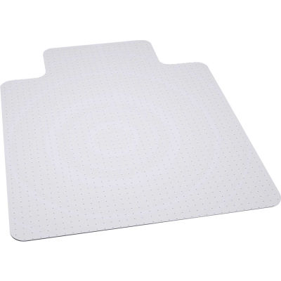 "Office Chair Mat for Carpet - 45""W x 53""L with 25"" x 12"" Lip - Straight Edge- No Packaging - Pkg Qty 25"
