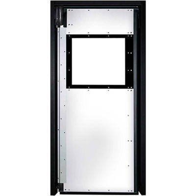 Aleco® Extra Heavy Duty Single Panel Impact Traffic Door 3'W x 7'H White XHD1753684SD-WE