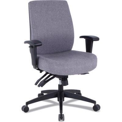 Alera® 24/7 Mid-Back Multifunction Task Chair - Gray Fabric - Wrigley Series