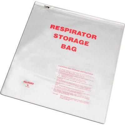 "Allegro 2000 Respirator Storage Bag with Zipper, 14"" x 16"""