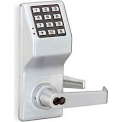 Trilogy DL2775IC/26D Keypad Programmable Pushbutton Lock 100 Combination Cap, Regal (Curved) Lever,
