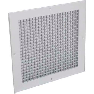 """American Louver Eggcrate Return Grille 1/2"""" Cubed Core 10"""" x 10"""" White 4 Pack"""