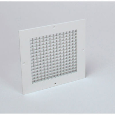 """American Louver Eggcrate Return Grille, Surface Mount, 12"""" x 12"""", White,  PK5"""
