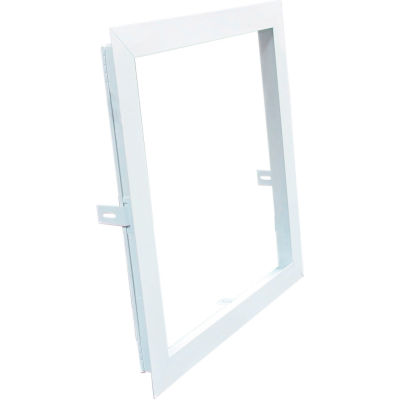 American Louver Plaster Frame for Lay-In Air Diffuser, 1' x 1', White, PK2