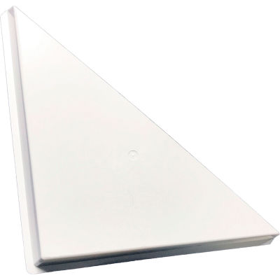 American Louver Triangle Ceiling Vent Air Diverter, for 2' x 2' T-Grid Diffusers, White