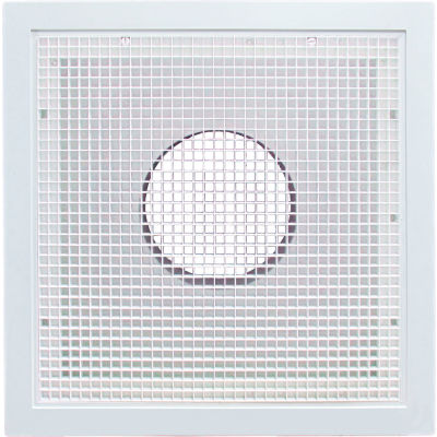 """American Louver Stratus Plastic Return Filter Grille, 12"""" Duct, T-grid, White"""