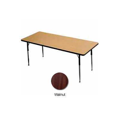 "Activity Table - Rectangle -  24"" X 36"",  Standard Adj. Height, Walnut"