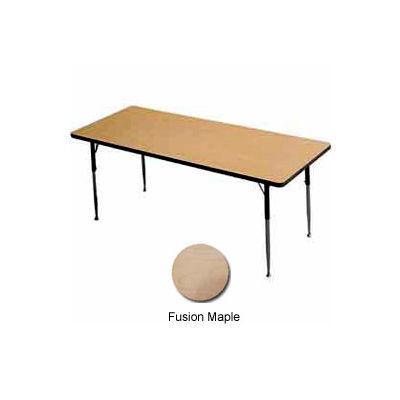 "Activity Table - Rectangle -  24"" X 48"",  Juvenile Adj. Height, Fusion Maple"