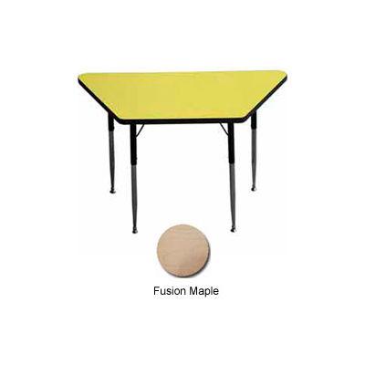 "Activity Table -  Trapezoid - 24"" X 24"" X 48"" - Standard Adj. Height - Fusion Maple"