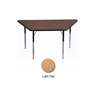 "ADA Activity Table - Trapezoid - 30"" X 30"" X 60"", Adj. Height, Light Oak"