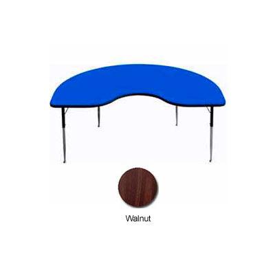"""Activity Table - Kidney - 48"""" x 72"""", Juvenile Adj. Height, Walnut"""