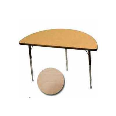 "Activity Table - Half-Round - 24"" X 48"", Juvenile Adj. Height, Fusion Maple"