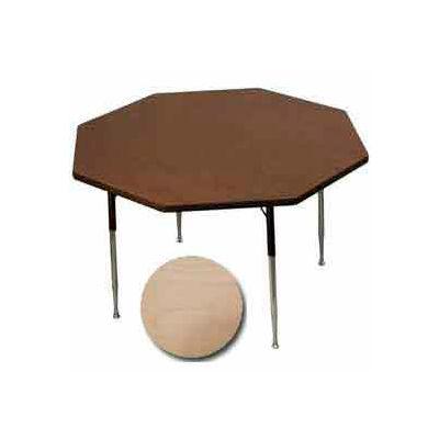 "Activity Table - Octagon - 48"" Diameter,  Juvenile Adj. Height, Fusion Maple"