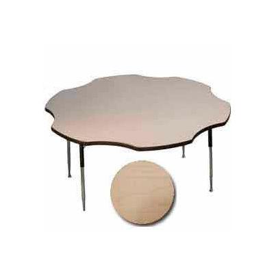"Activity Table - Flower - 60"" Diameter, Standard Adj. Height, Fusion Maple"