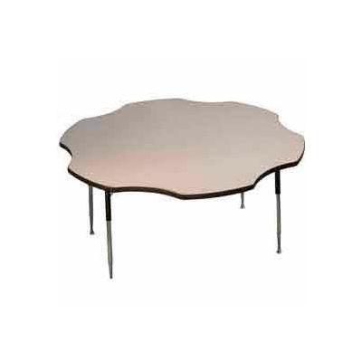 "Activity Table - Flower - 60"" Diameter, Standard Adj. Height, Gray Nebula"