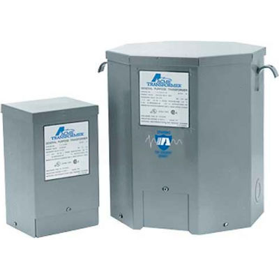 Acme Electric T111687 Lighting Transformers 1PH, 60 Hz 120 X 240 Volt Input 12/24 Volt Output, 5KVA