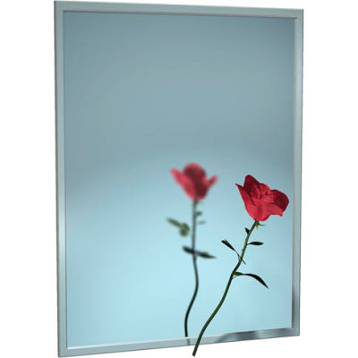 """ASI® Stainless Steel Channel Frame Mirror - 24""""Wx36""""H - 0620-2436"""