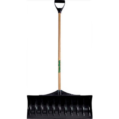 """Union Tools® 1602100 30"""" Poly Blade Snow Pusher W/ Wood D-Grip Handle"""
