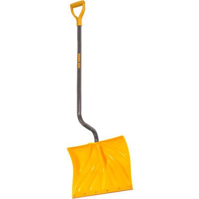 "TrueTemper® 1603072 18"" Ergonomic Poly Blade Combo Snow Shovel W/ Steel D-Grip Handle"