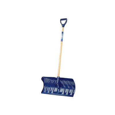 """Union Tools® 1630400 24"""" Poly Blade Snow Pusher W/ Wood D-Grip Handle"""